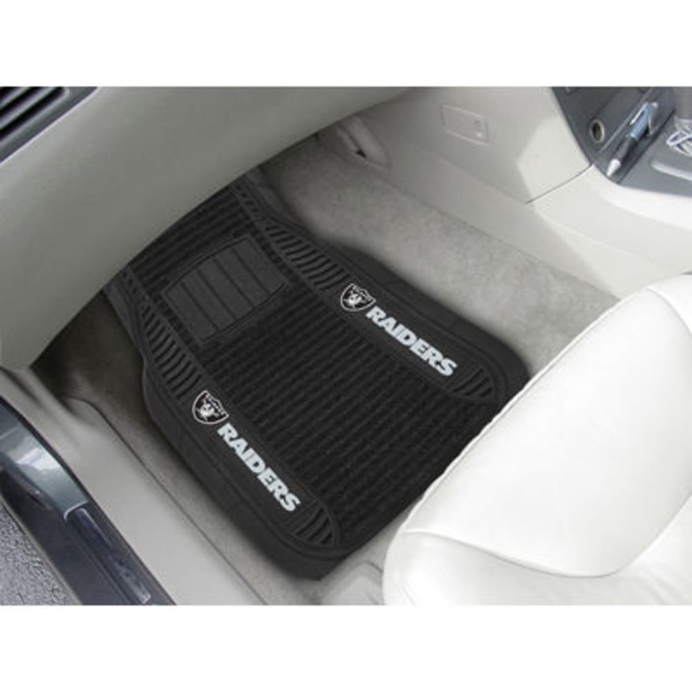 Fan Mats Oakland Raiders 2-Piece Deluxe Car Mats, Black