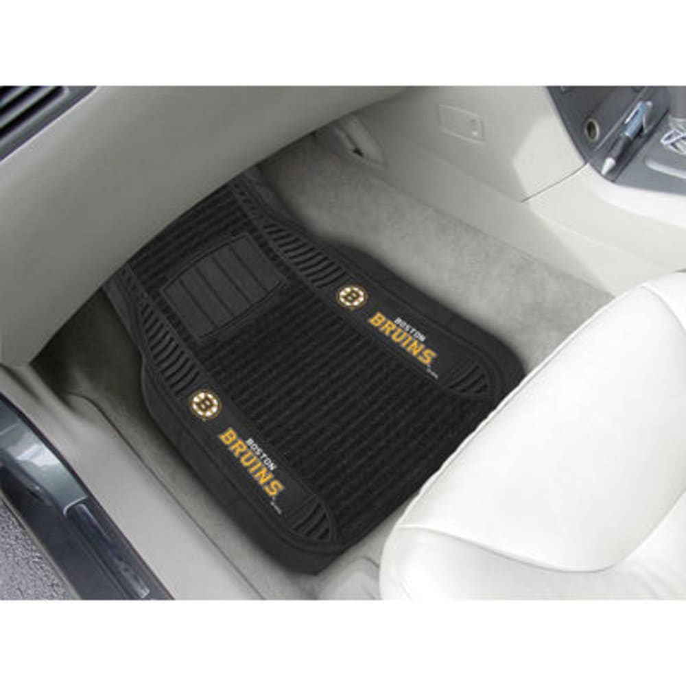 Fan Mats Boston Bruins 2-Piece Deluxe Car Mats, Black