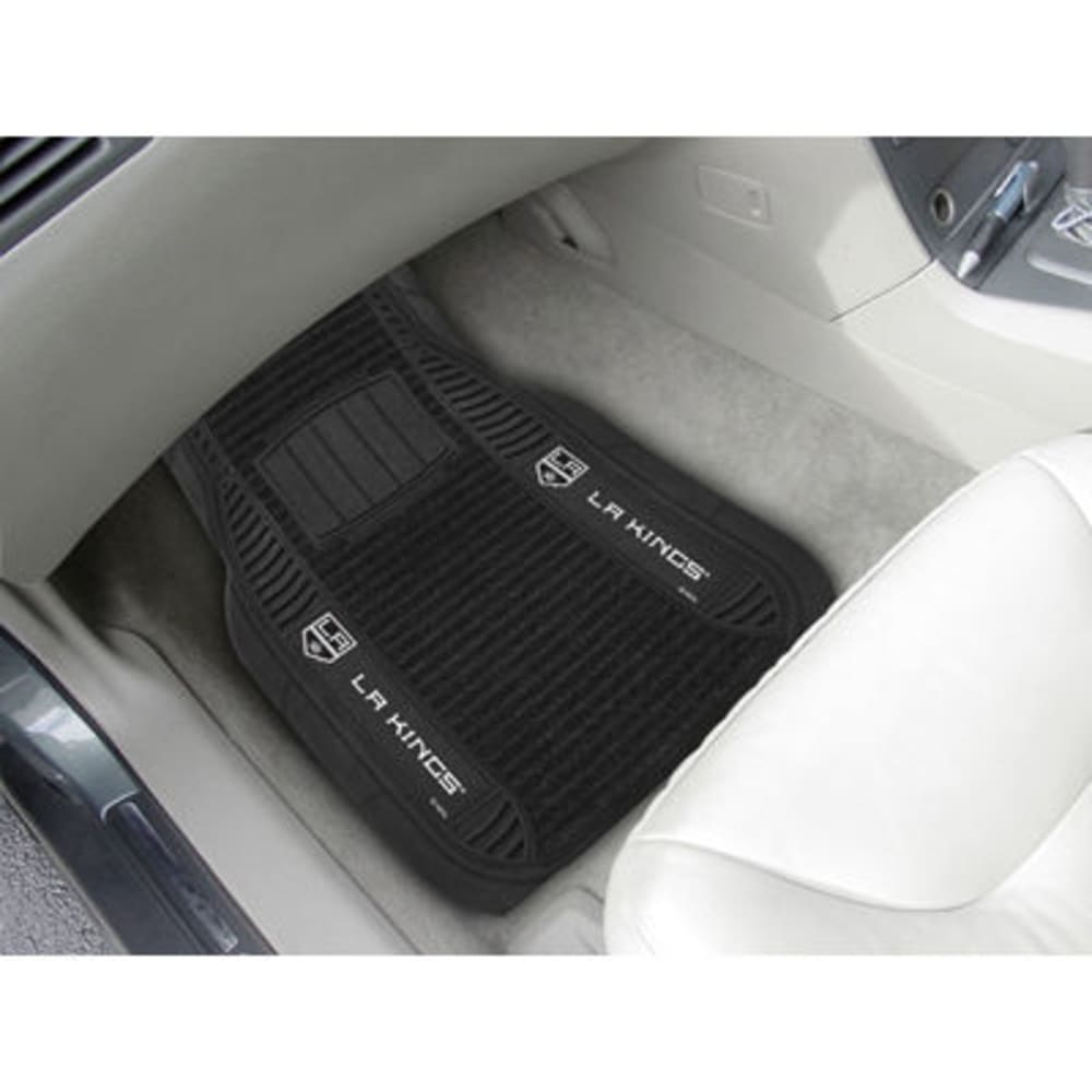 Fan Mats Los Angeles Kings 2-Piece Deluxe Car Mats, Black