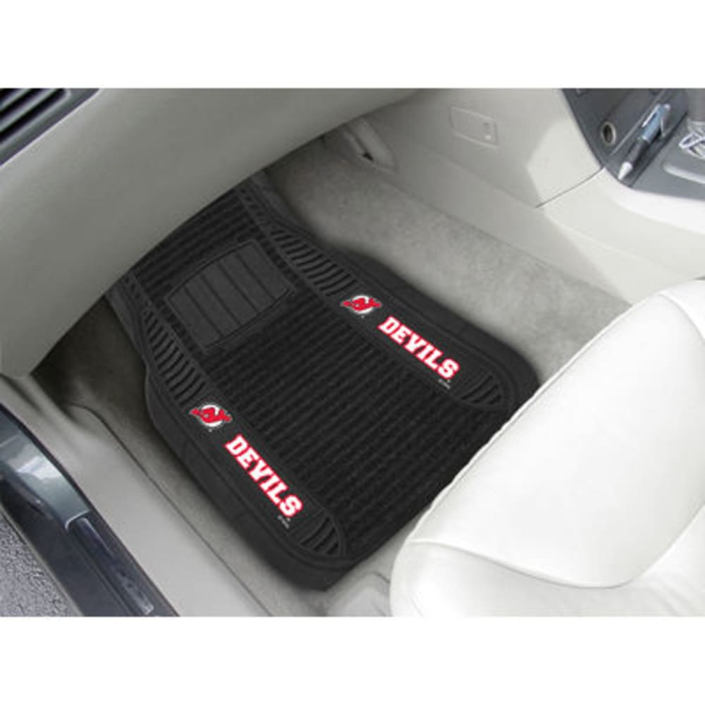 Fan Mats New Jersey Devils 2-Piece Deluxe Car Mats, Black
