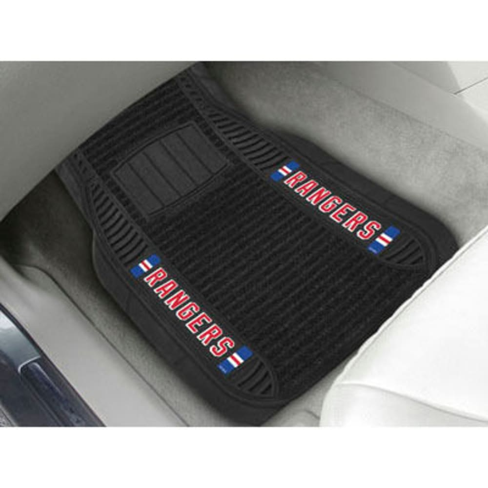 Fan Mats New York Rangers 2-Piece Deluxe Car Mats, Black