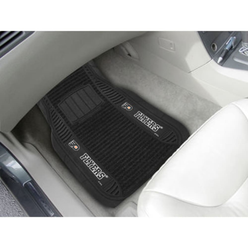 Fan Mats Philadelphia Flyers 2-Piece Deluxe Car Mats, Black