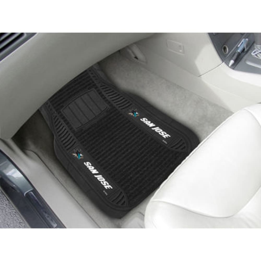 Fan Mats San Jose Sharks 2-Piece Deluxe Car Mats, Black