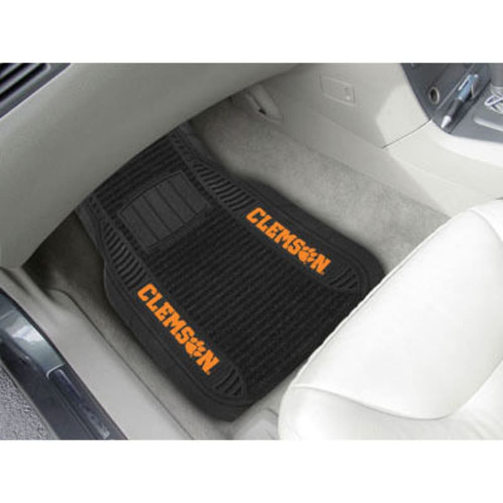 Fan Mats Clemson University 2-Piece Deluxe Car Mats, Black
