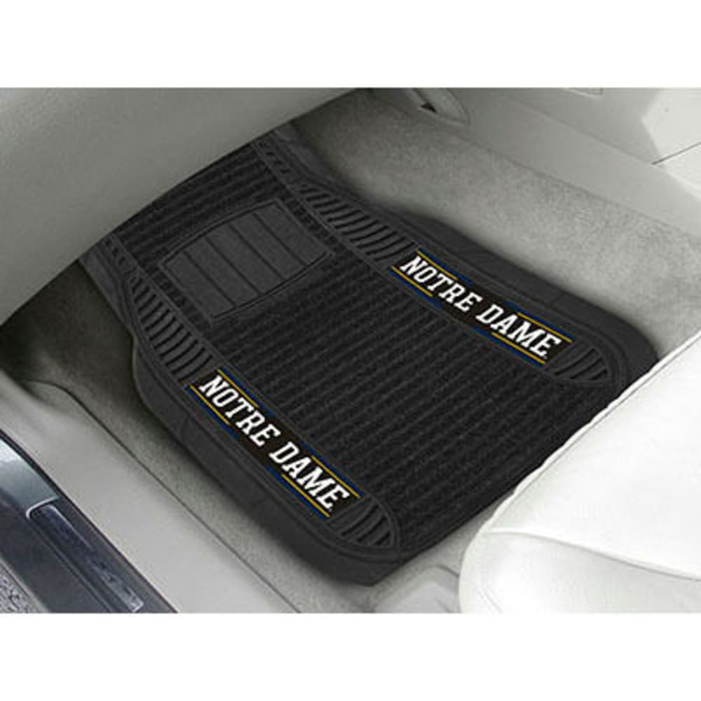 Fan Mats Notre Dame 2-Piece Deluxe Car Mats, Black