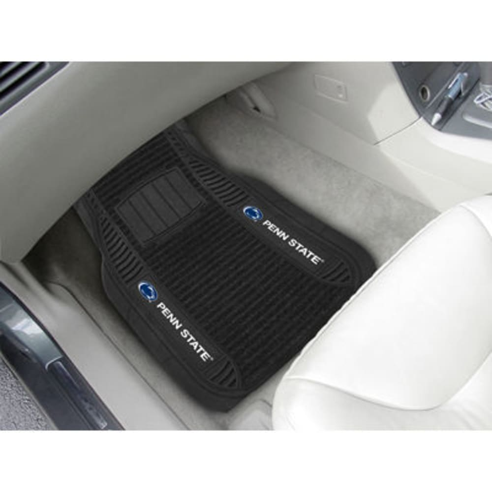 Fan Mats Penn State 2-Piece Deluxe Car Mats, Black
