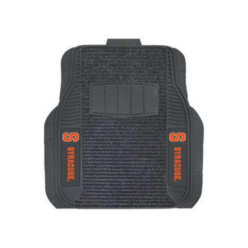 Fan Mats Syracuse University 2-Piece Deluxe Car Mats, Black