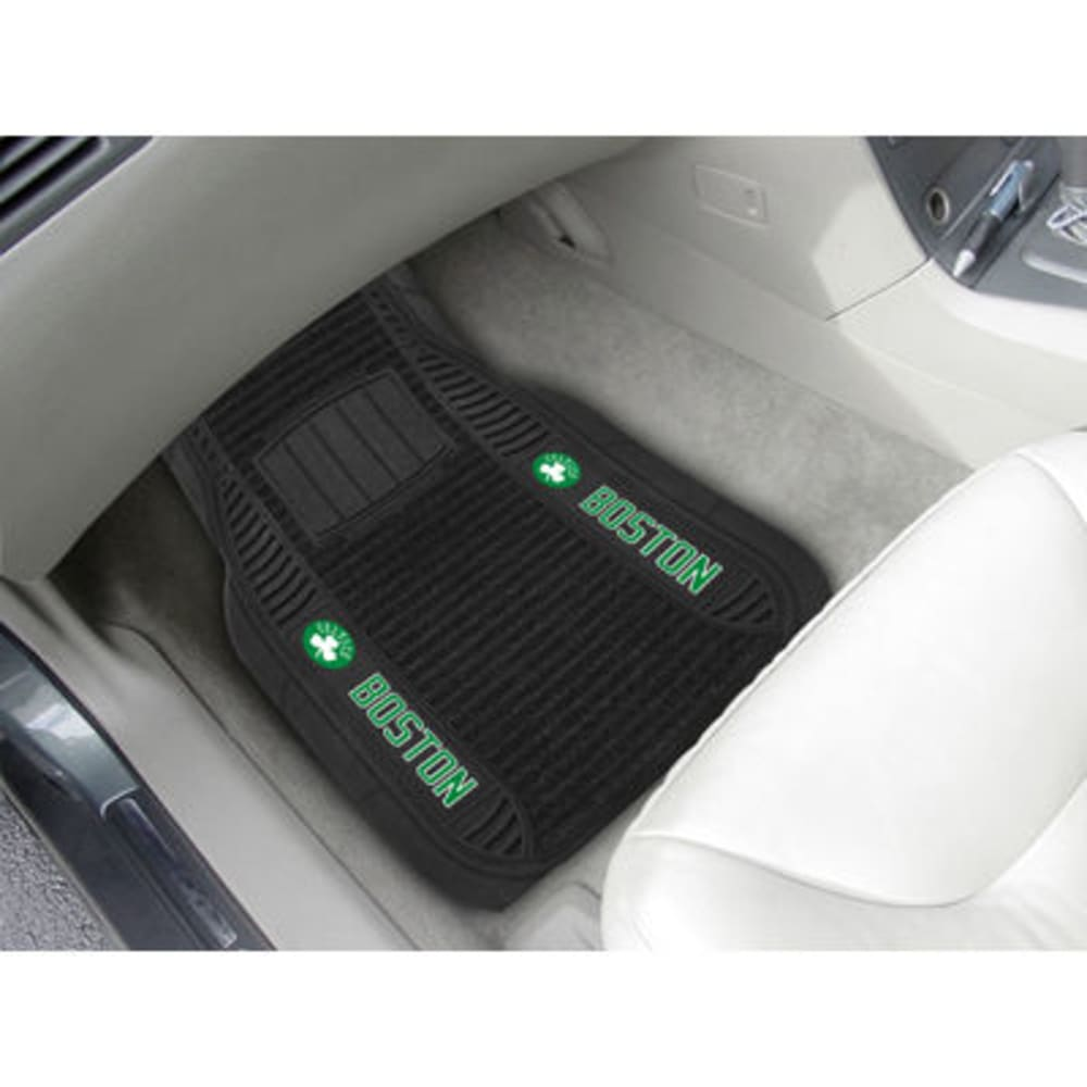 Fan Mats Boston Celtics 2-Piece Deluxe Car Mats, Black