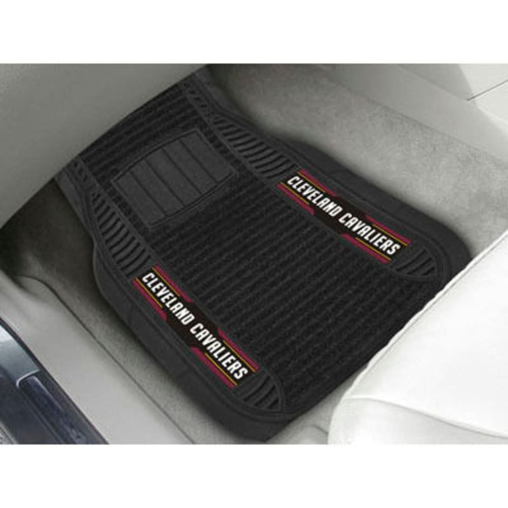 Fan Mats Cleveland Cavaliers 2-Piece Deluxe Car Mats, Black