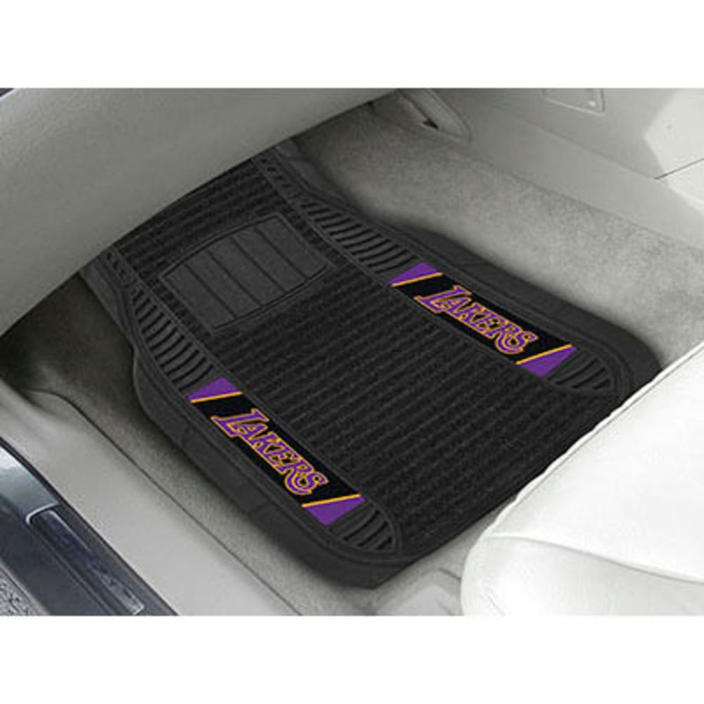 Fan Mats Los Angeles Lakers 2-Piece Deluxe Car Mats, Black
