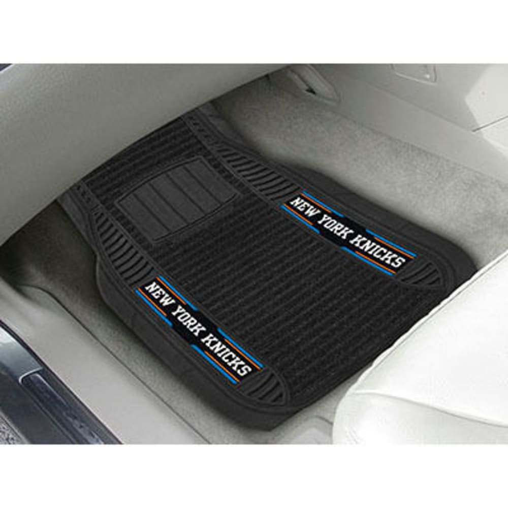 Fan Mats New York Knicks 2-Piece Deluxe Car Mats, Black