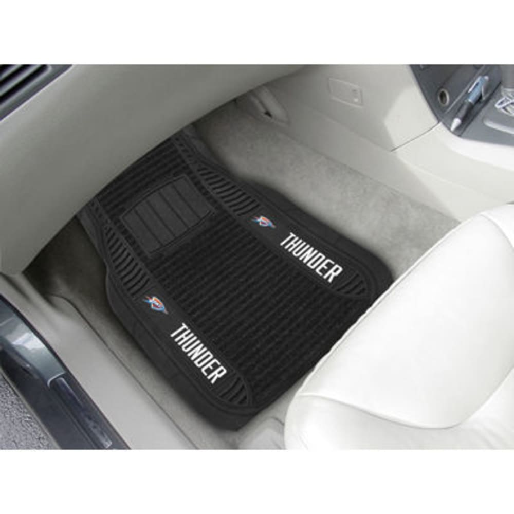 Fan Mats Oklahoma City Thunder 2-Piece Deluxe Car Mats, Black