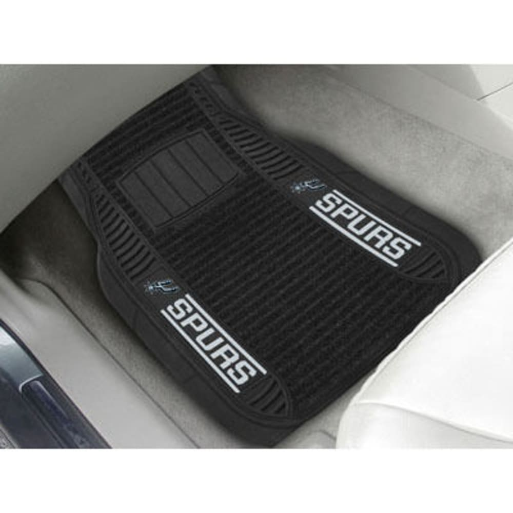 Fan Mats San Antonio Spurs 2-Piece Deluxe Car Mats, Black