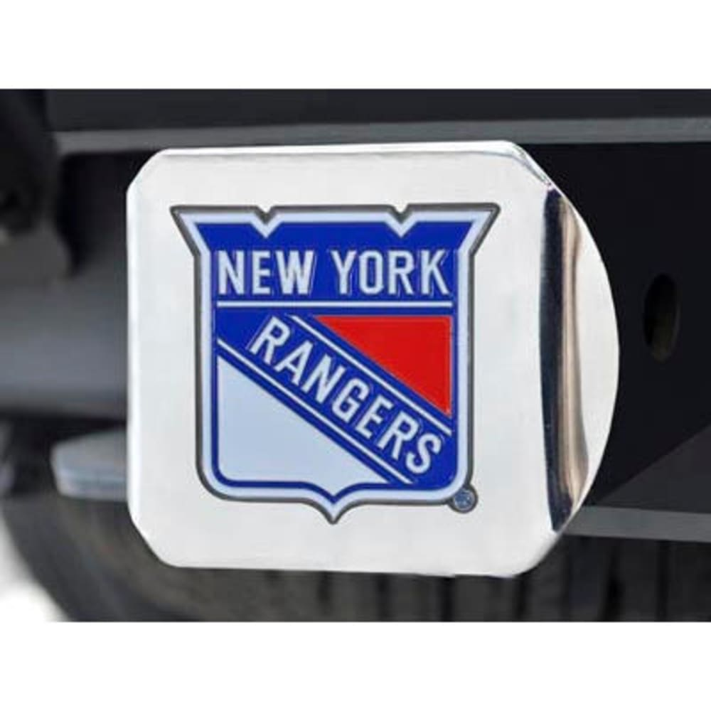 FAN MATS New York Rangers Color Hitch Cover - CHROME
