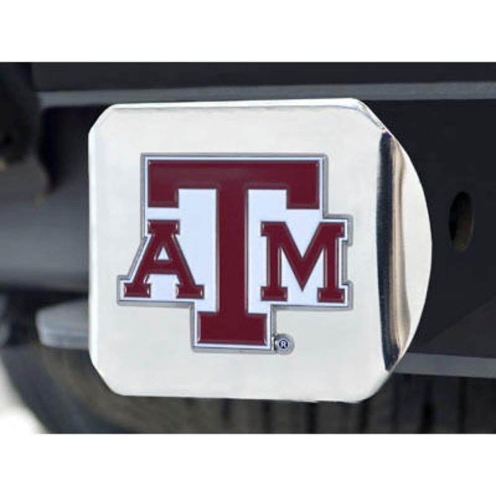 FAN MATS Texas A&M University Color Hitch Cover - CHROME