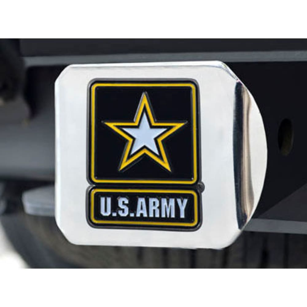 FAN MATS U.S. Army Color Hitch Cover - CHROME