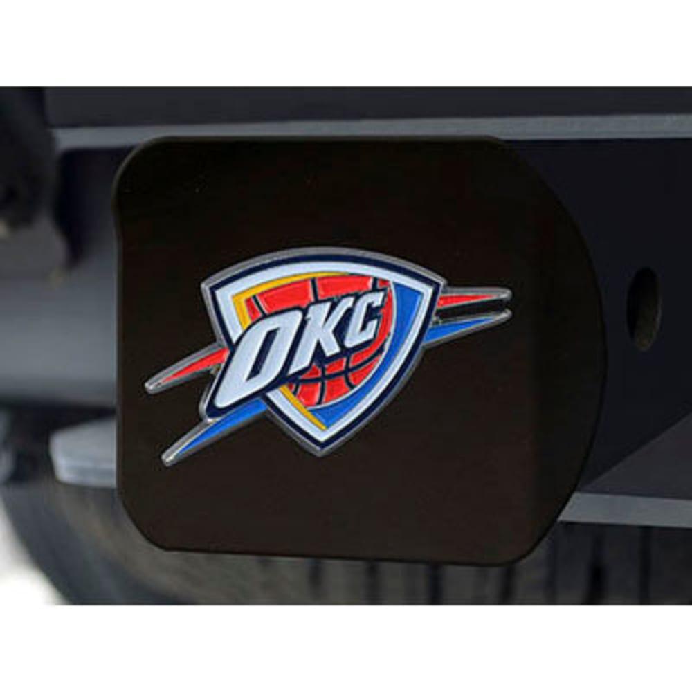 FAN MATS Oklahoma City Thunder Color Hitch Cover - BLACK