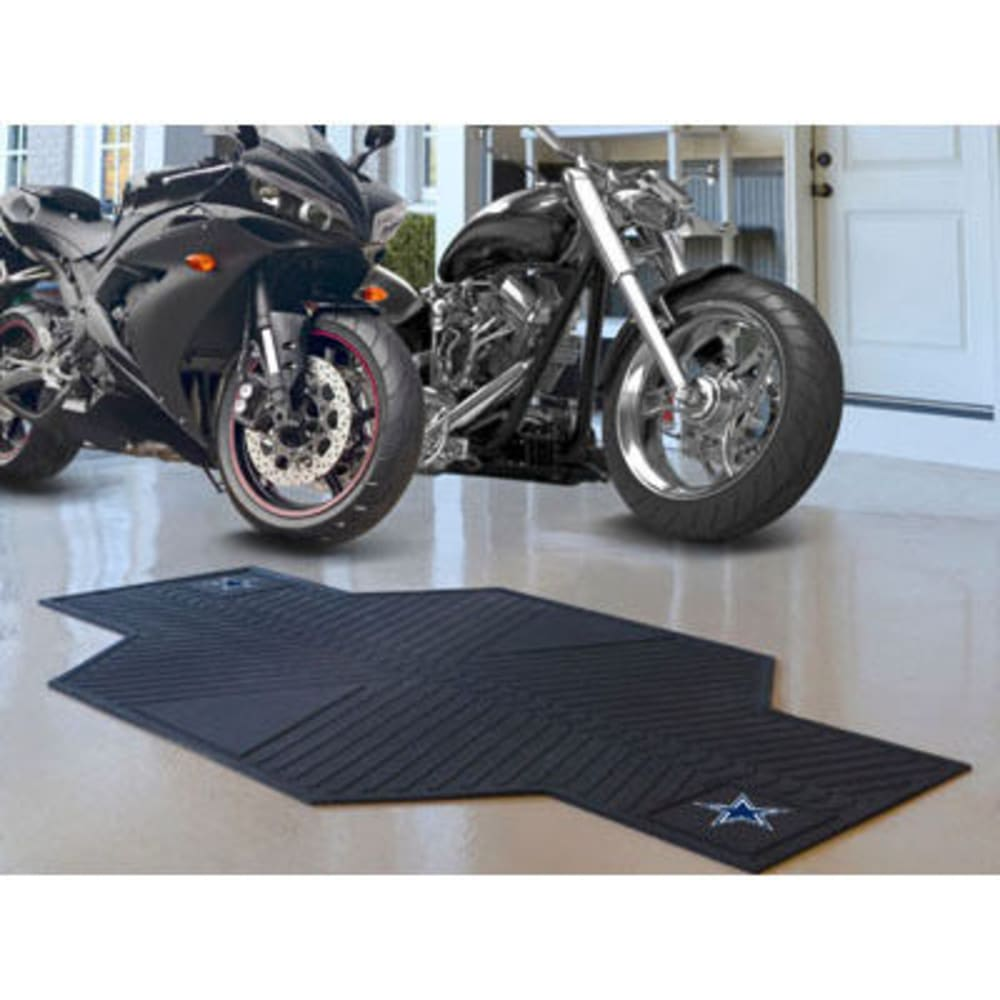 Fan Mats Dallas Cowboys Motorcycle Mat, Black