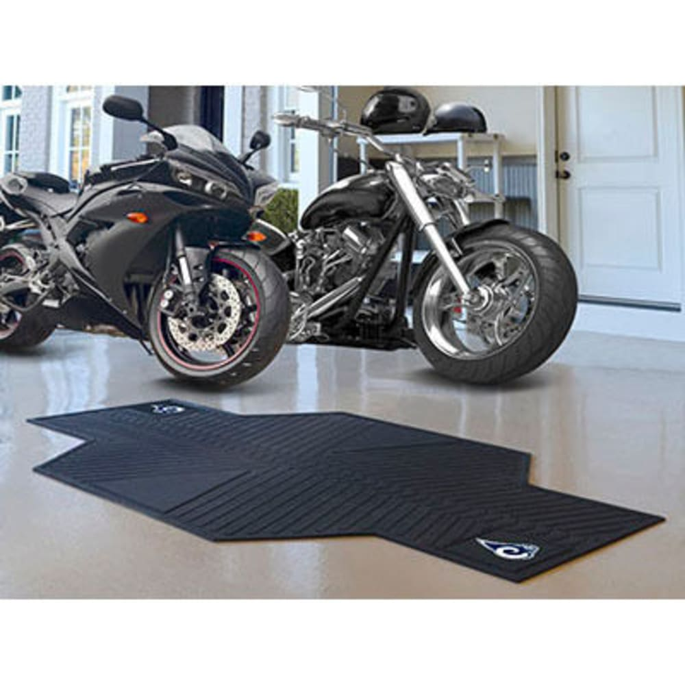 Fan Mats Los Angeles Rams Motorcycle Mat, Black