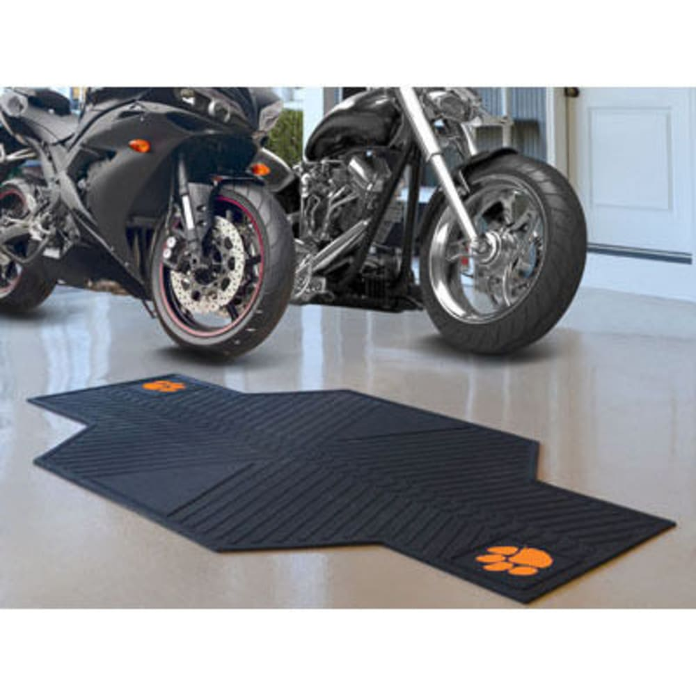 Fan Mats Clemson University Motorcycle Mat, Black