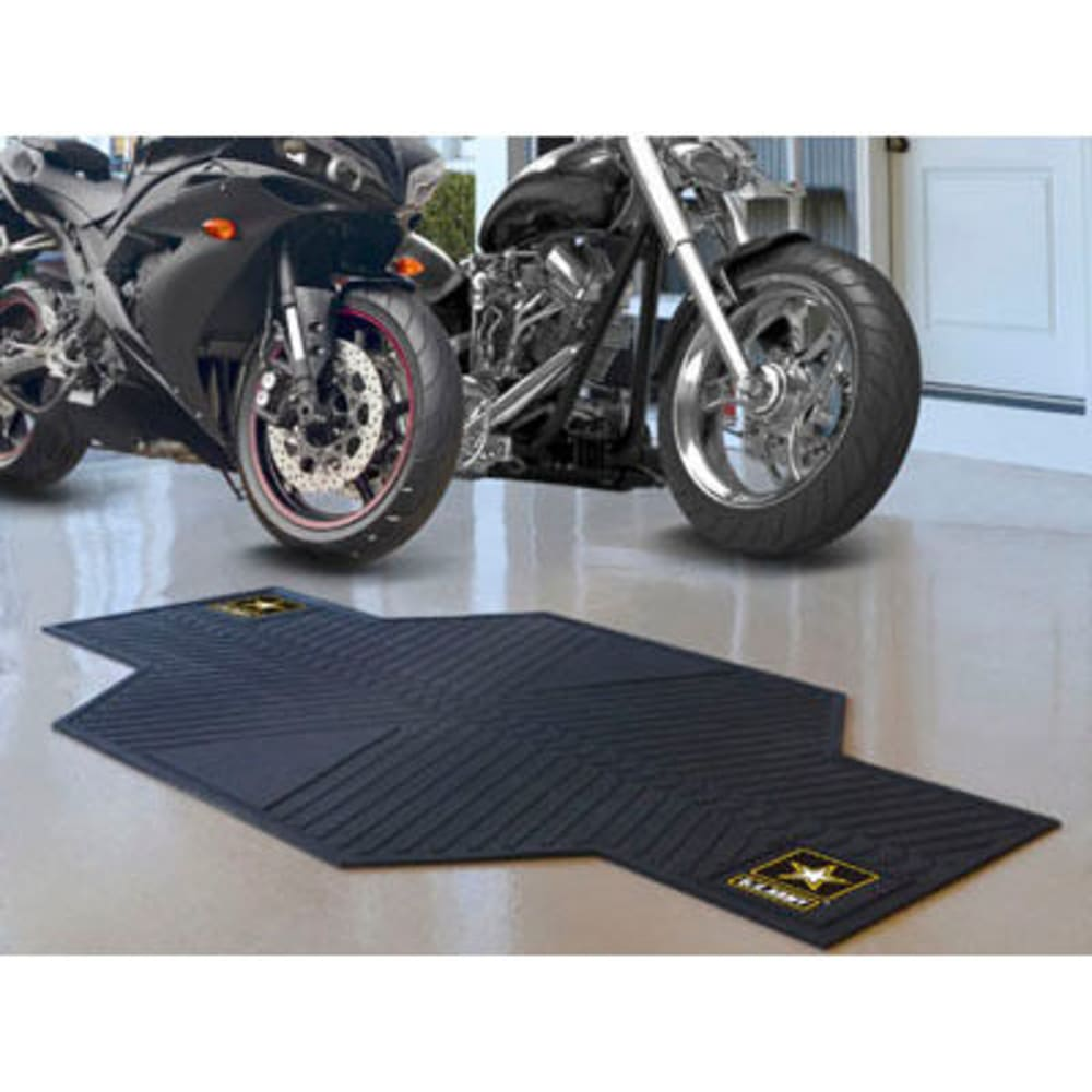 Fan Mats U.s. Army Motorcycle Mat, Black