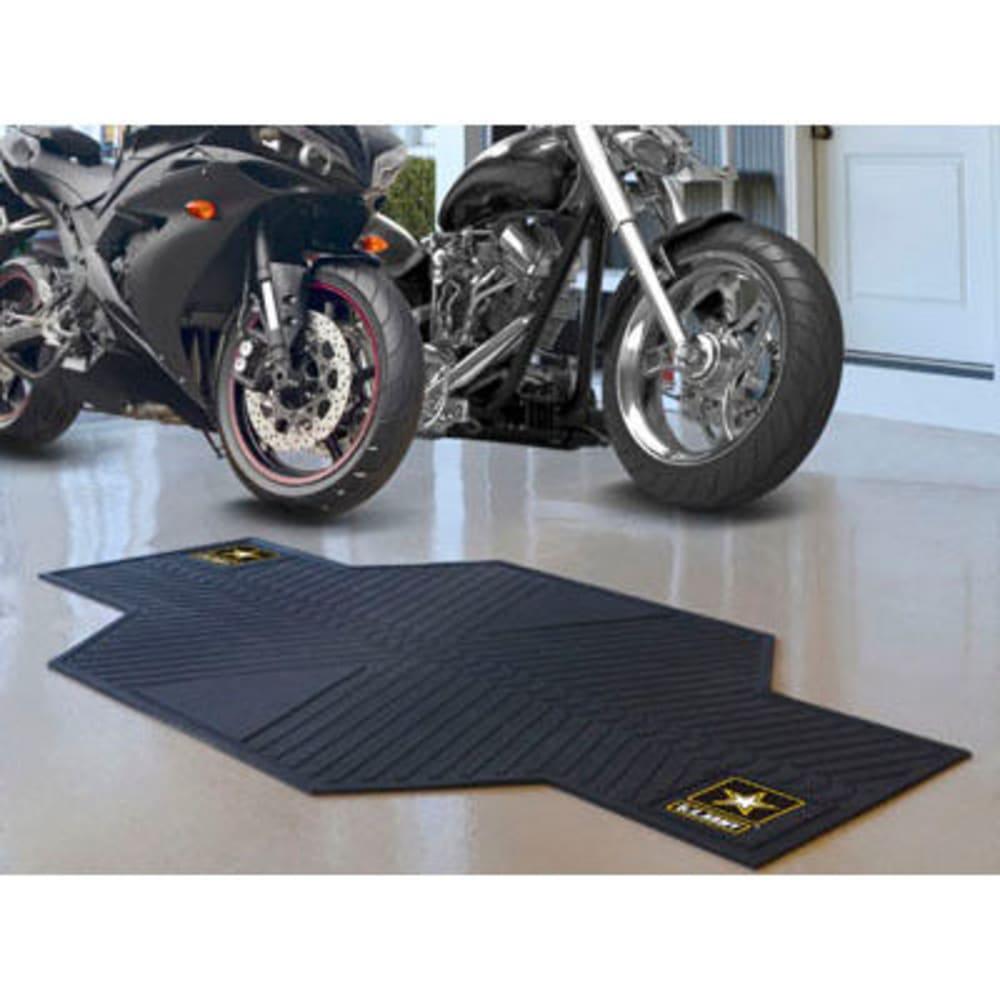FAN MATS U.S. Army Motorcycle Mat, Black - BLACK