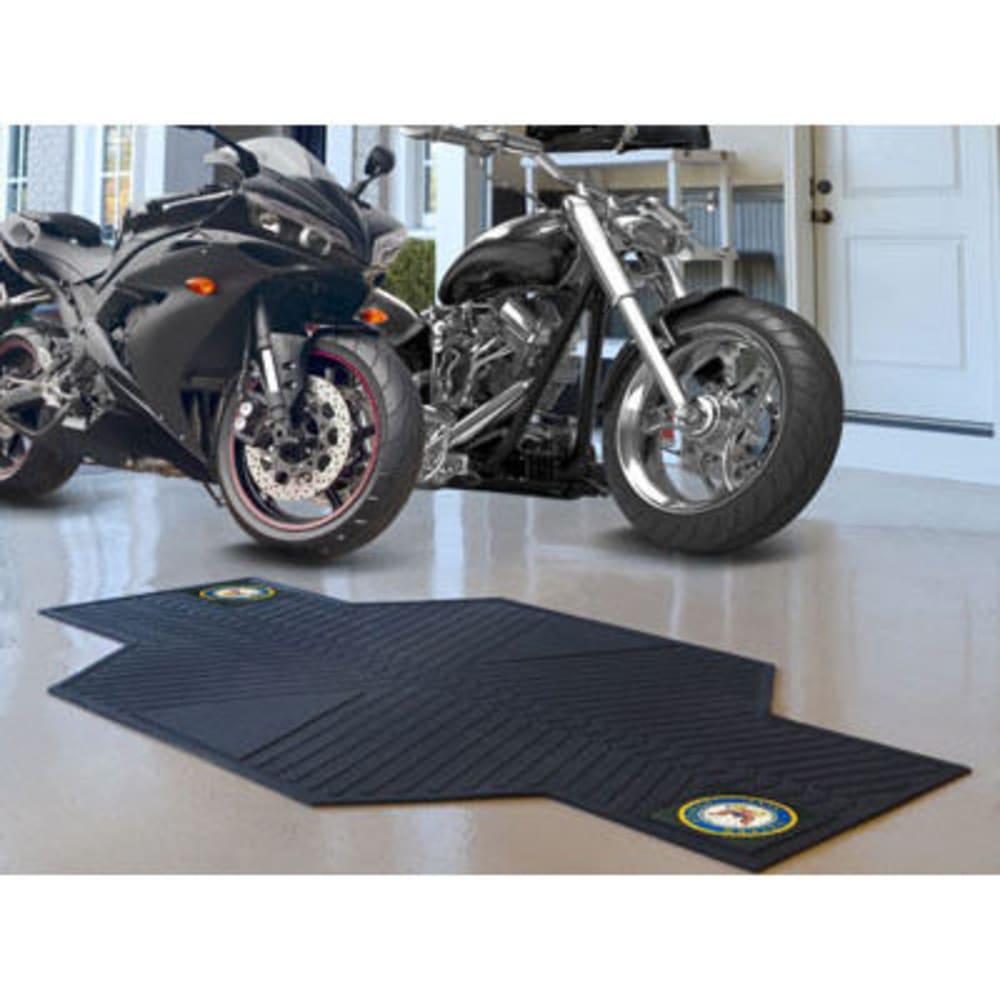 FAN MATS U.S. Navy Motorcycle Mat, Black - BLACK