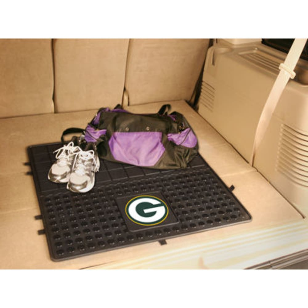 FAN MATS Green Bay Packers Heavy Duty Vinyl Cargo Mat, Black - BLACK