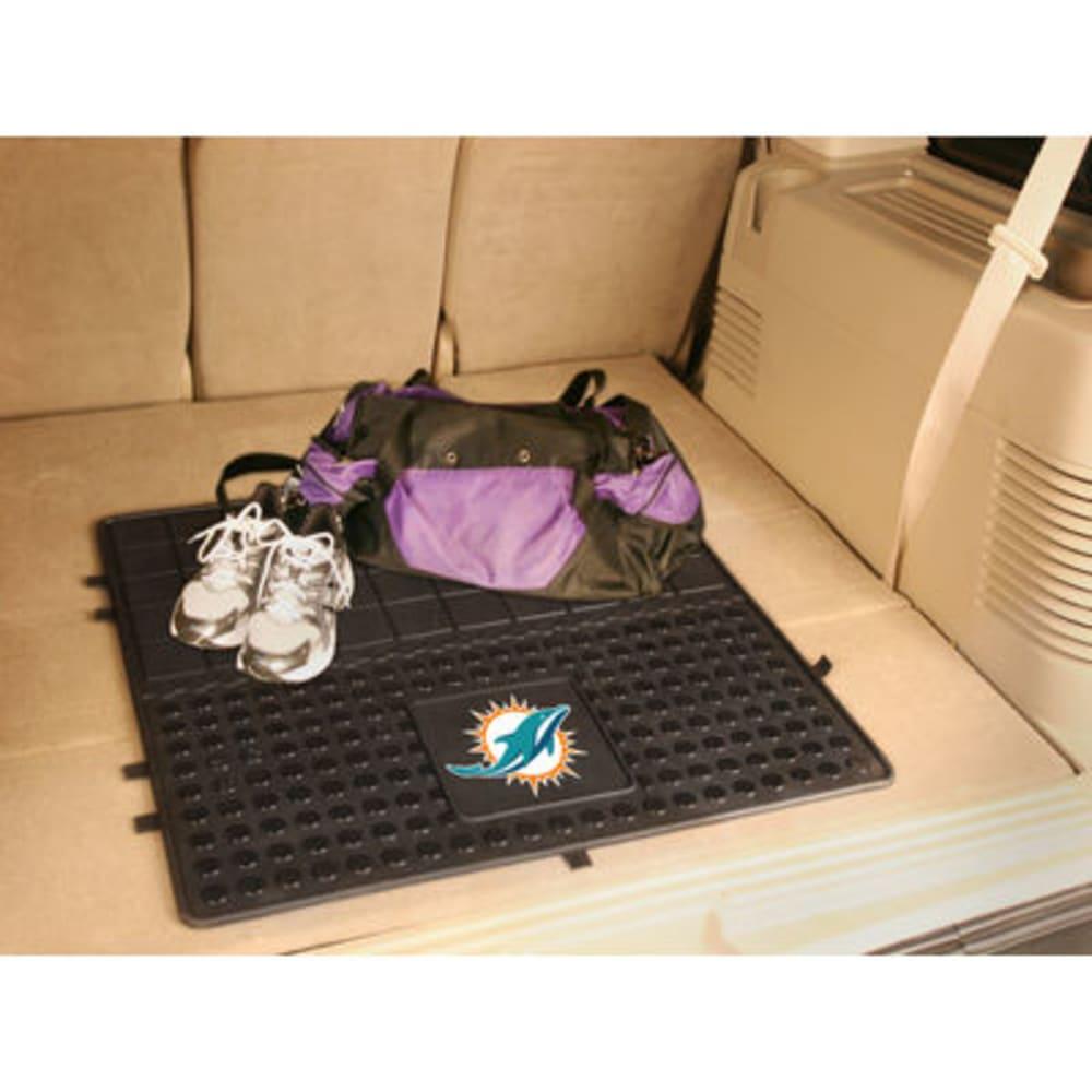 FAN MATS Miami Dolphins Heavy Duty Vinyl Cargo Mat, Black - BLACK