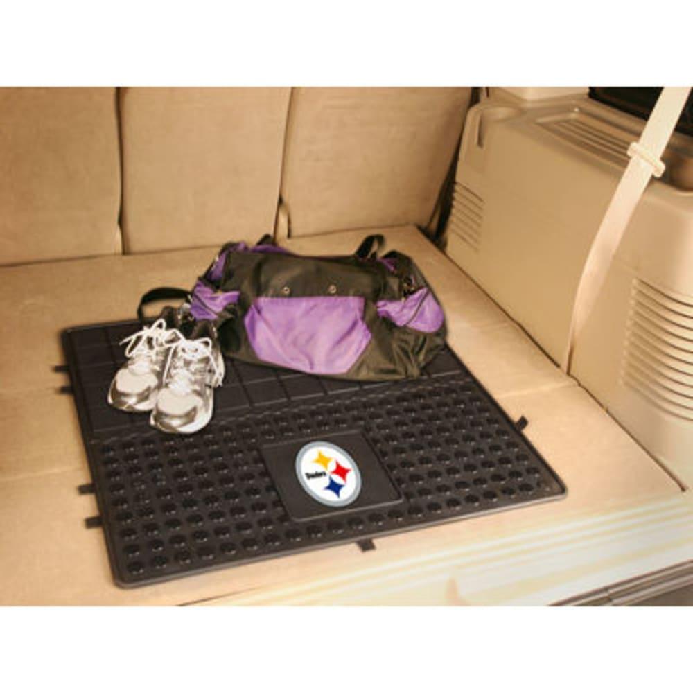 Fan Mats Pittsburgh Steelers Heavy Duty Vinyl Cargo Mat, Black
