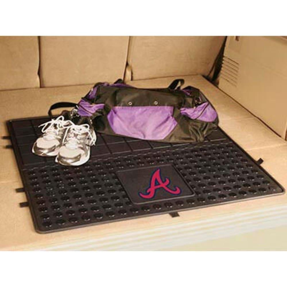 FAN MATS Atlanta Braves Heavy Duty Vinyl Cargo Mat, Black - BLACK