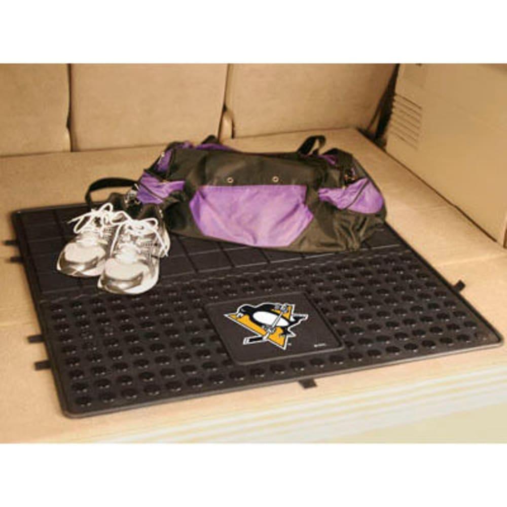FAN MATS Pittsburgh Penguins Heavy Duty Vinyl Cargo Mat, Black - BLACK