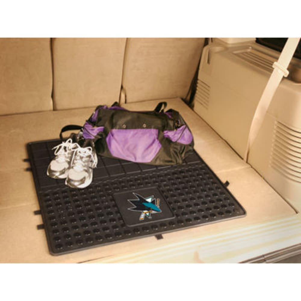FAN MATS San Jose Sharks Heavy Duty Vinyl Cargo Mat, Black - BLACK