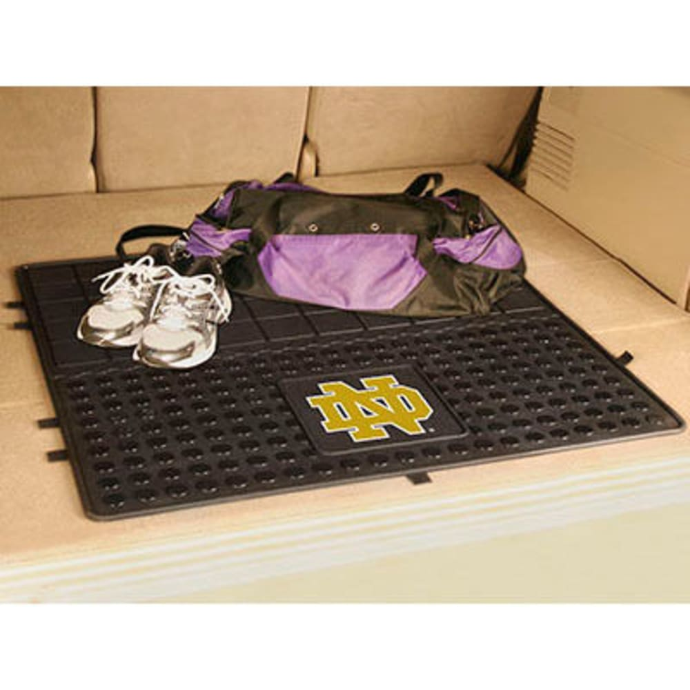 FAN MATS Notre Dame ND Heavy Duty Vinyl Cargo Mat, Black ONE SIZE