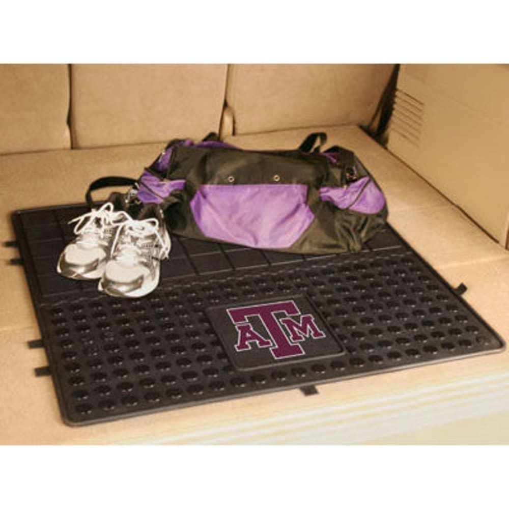 FAN MATS Texas A&M University Heavy Duty Vinyl Cargo Mat, Black - BLACK