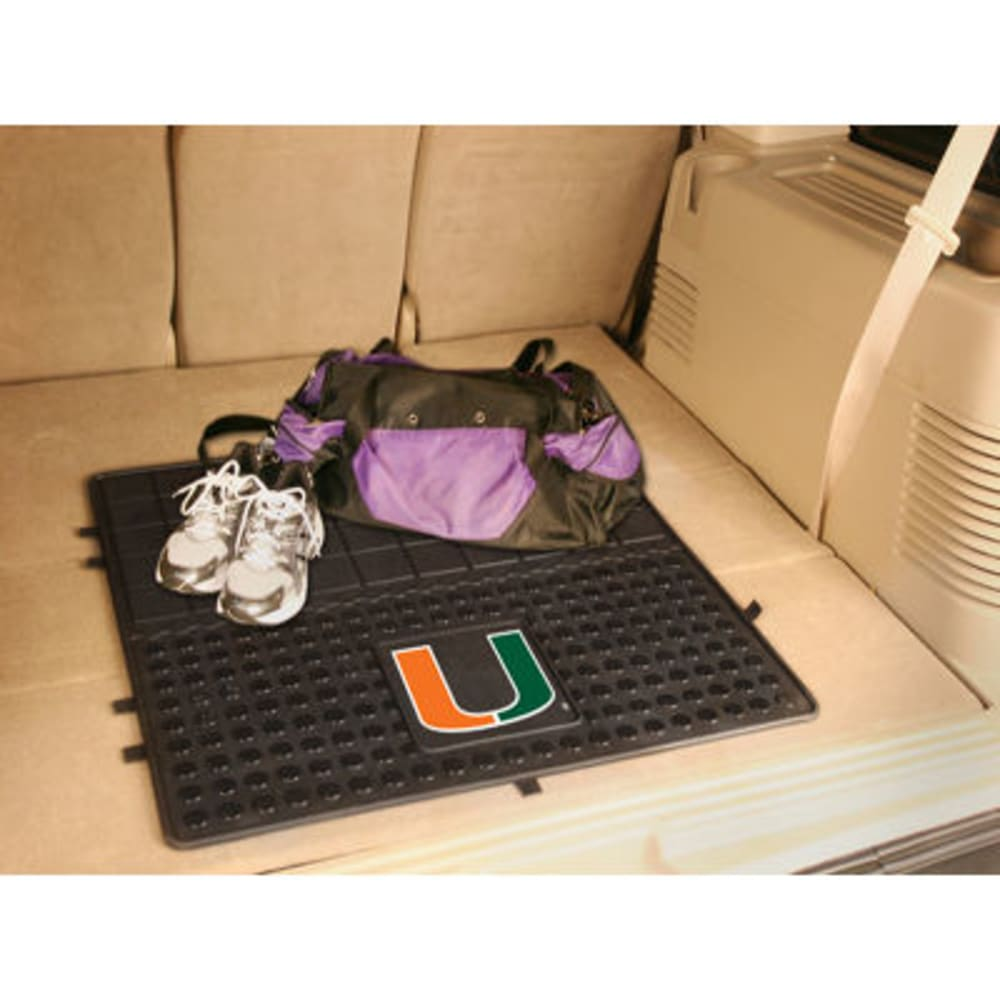 FAN MATS University of Miami Heavy Duty Vinyl Cargo Mat, Black - BLACK