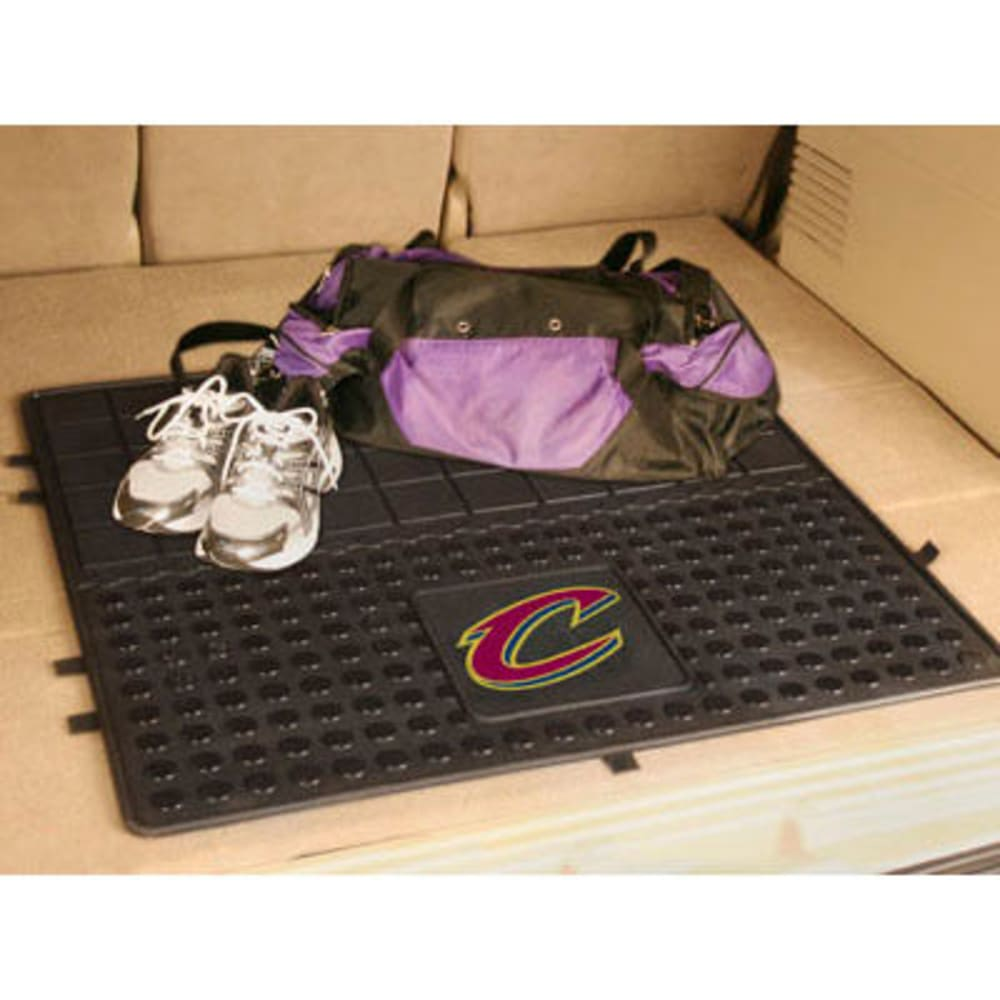 FAN MATS Cleveland Cavaliers Heavy Duty Vinyl Cargo Mat, Black - BLACK
