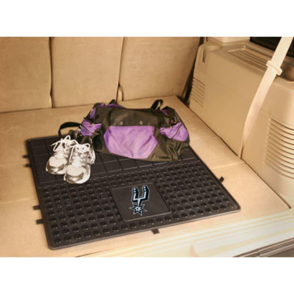 FAN MATS San Antonio Spurs Heavy Duty Vinyl Cargo Mat, Black - BLACK