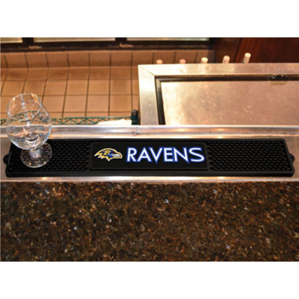 FAN MATS Baltimore Ravens Drink Mat, Black - BLACK