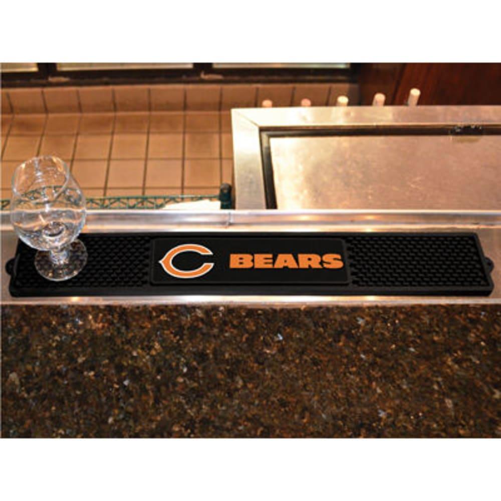 FAN MATS Chicago Bears Drink Mat, Black - BLACK