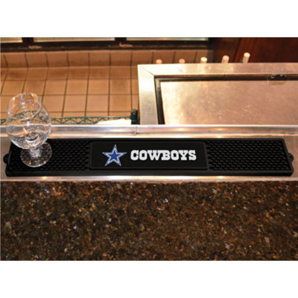 FAN MATS Dallas Cowboys Drink Mat, Black - BLACK