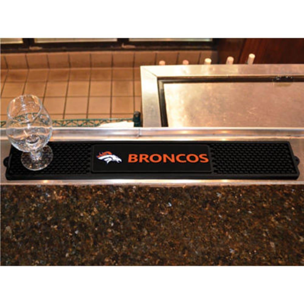 FAN MATS Denver Broncos Drink Mat, Black ONE SIZE