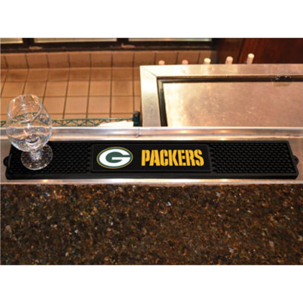 FAN MATS Green Bay Packers Drink Mat, Black - BLACK