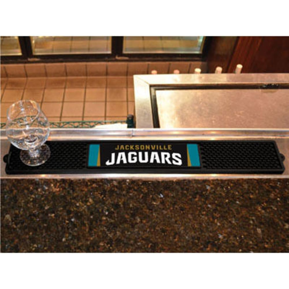 FAN MATS Jacksonville Jaguars Drink Mat, Black - BLACK