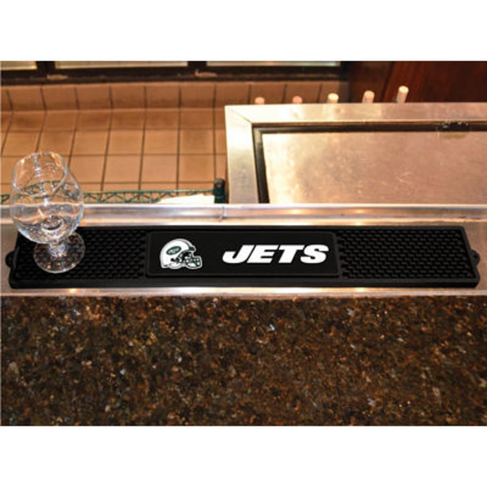 FAN MATS New York Jets Drink Mat, Black ONE SIZE