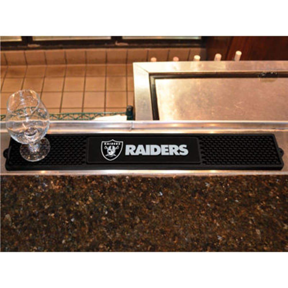 FAN MATS Oakland Raiders Drink Mat, Black ONE SIZE