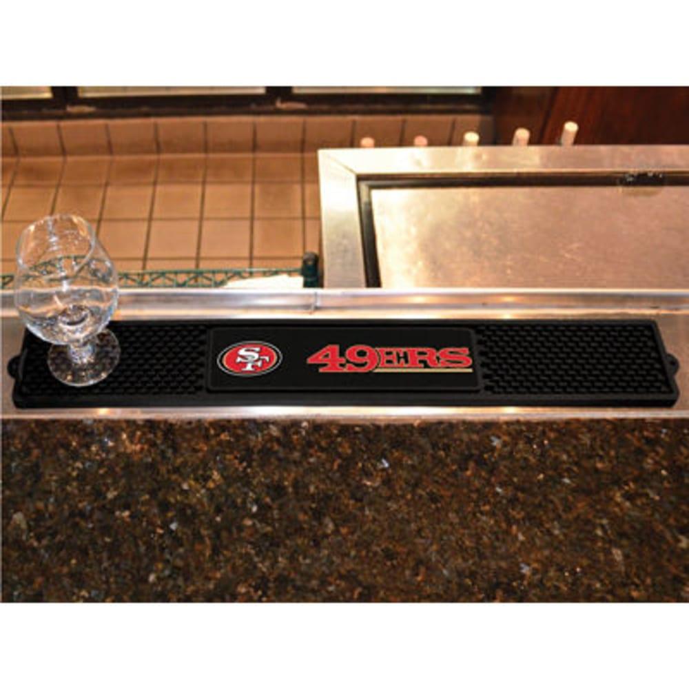 FAN MATS San Francisco 49ers Drink Mat, Black ONE SIZE
