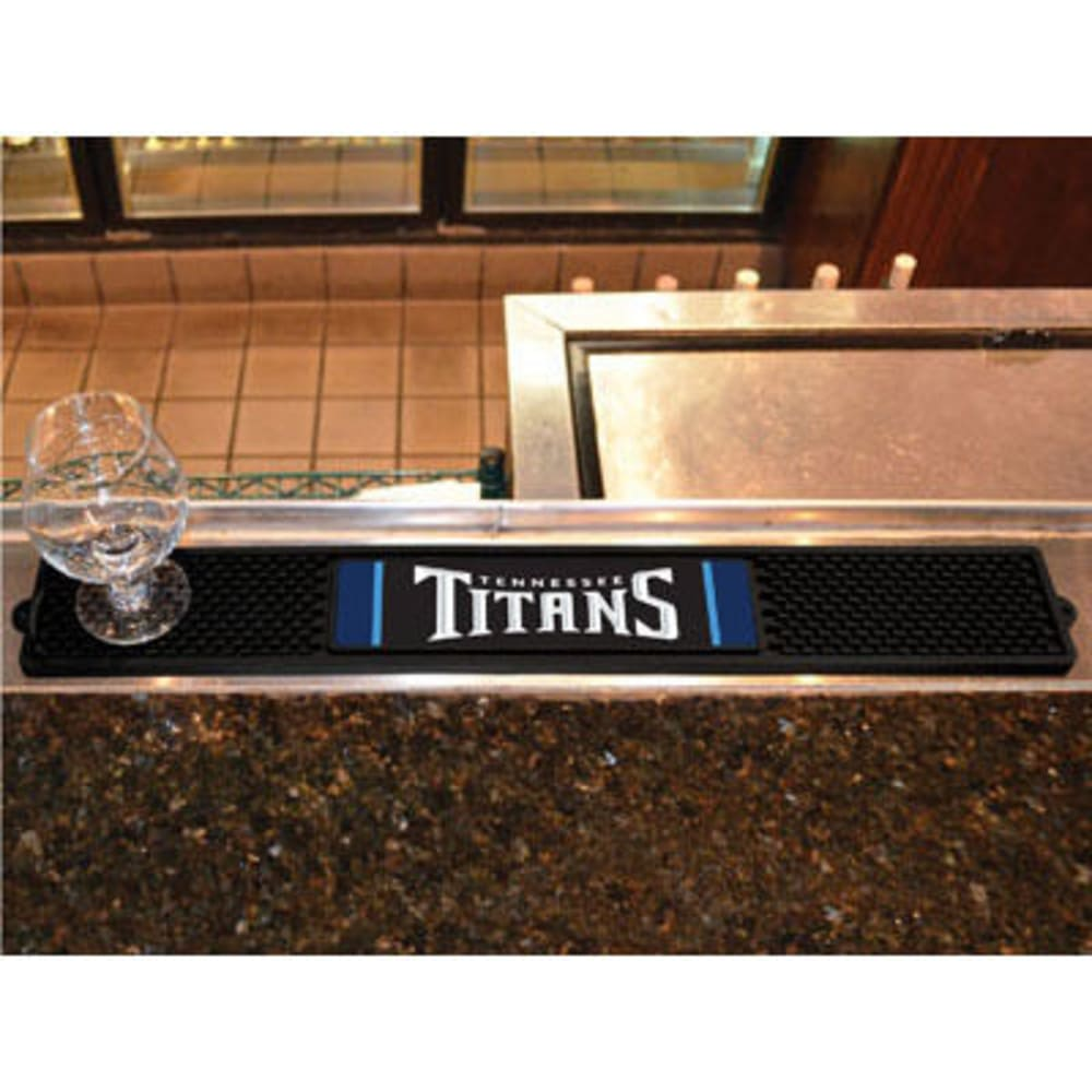 FAN MATS Tennessee Titans Drink Mat, Black ONE SIZE