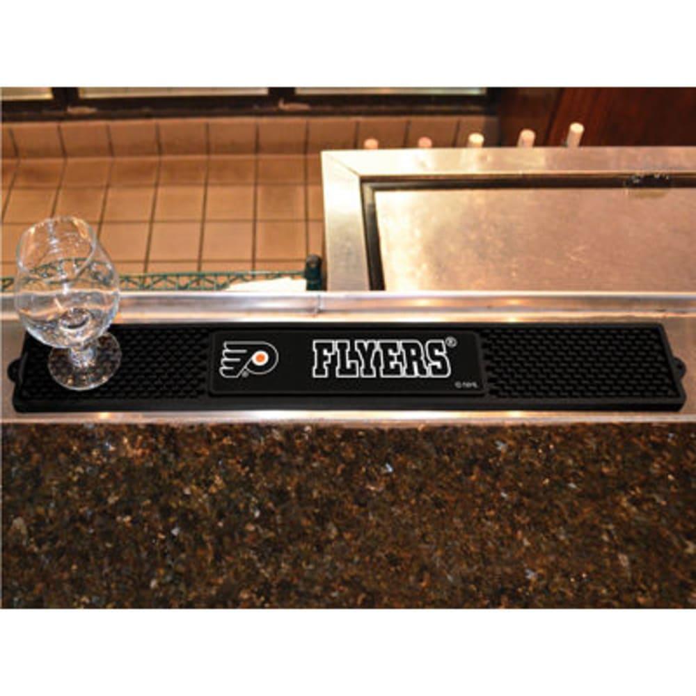 FAN MATS Philadelphia Flyers Drink Mat, Black ONE SIZE
