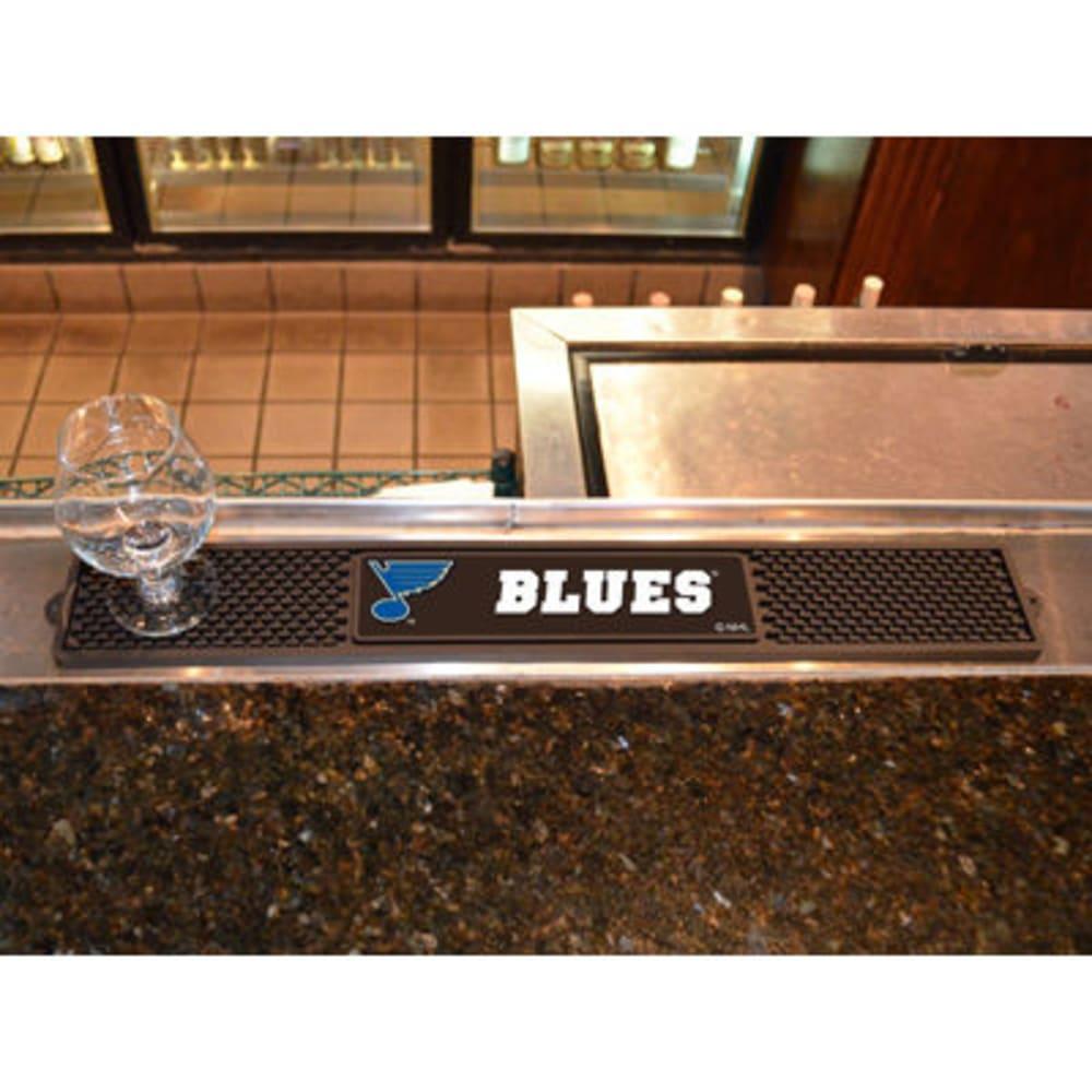 FAN MATS St. Louis Blues Drink Mat, Black ONE SIZE